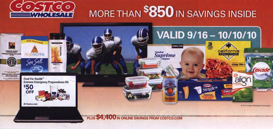Coupon book cover September 2010