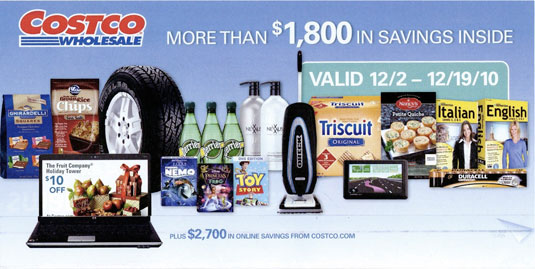December 2010 Costco coupon book