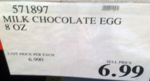 Milk Chocolate Easter Egg Sign