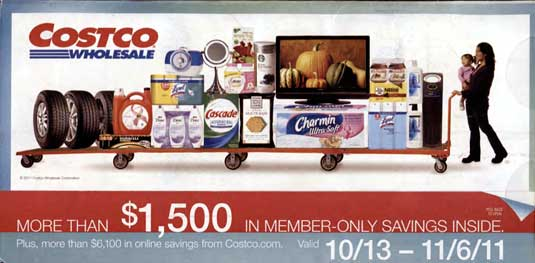 Costco coupon book October 2011 cover