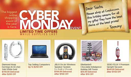 Costco Cyber Monday 2011