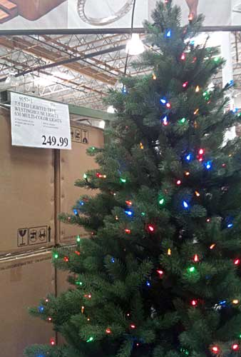 Costco Pre Lit Color Christmas Tree