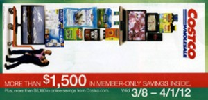 March 2012 Costco Coupon Book cover