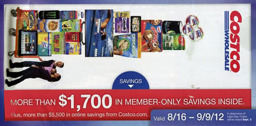 August 2012 Costco Coupon Book Cover