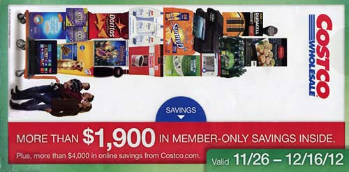 December 2012 Costco Coupon Book Cover