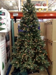 Costco artificial pre-lit Flip Christmas tree