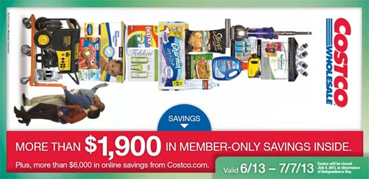 June 2013 Costco Coupon Book Cover