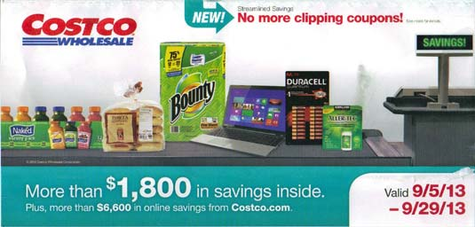 September 2013 Costco Coupon Book Cover