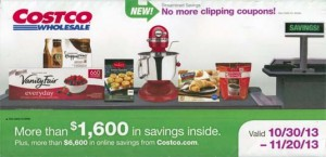 November 2013 Costco Coupon Book Cover