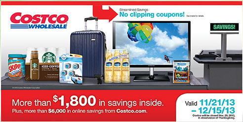 Costco Coupon Book December 2013 Cover