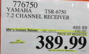 Yamaha Black Friday discounted price tag