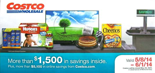 May 2014 Costco Coupon Book Cover