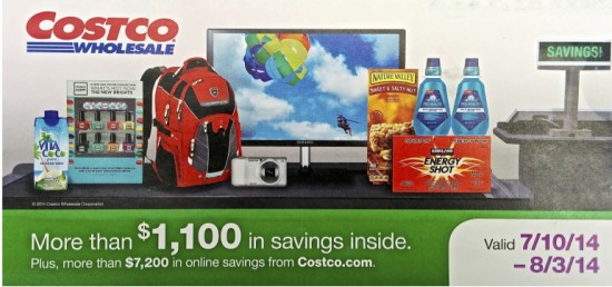July 2014 Costco Coupon Book Cover