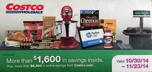 November 2014 Costco Coupon Book Cover