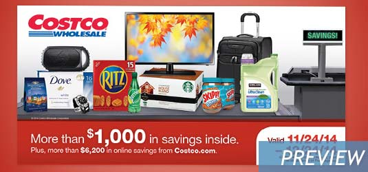 December 2014 Costco Coupon Book Cover