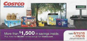 June 2015 Costco Coupon Book Cover