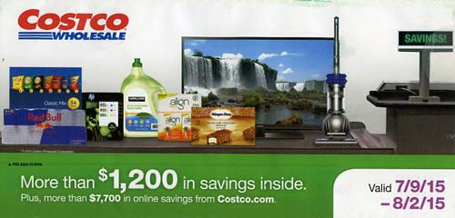 July 2015 Costco Coupon Book Cover