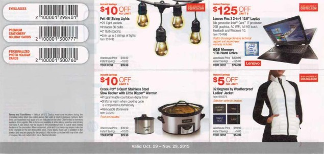 November 2015 Costco Coupon Book Page 1