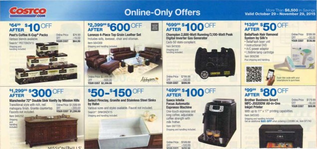 November 2015 Costco Coupon Book Page 16