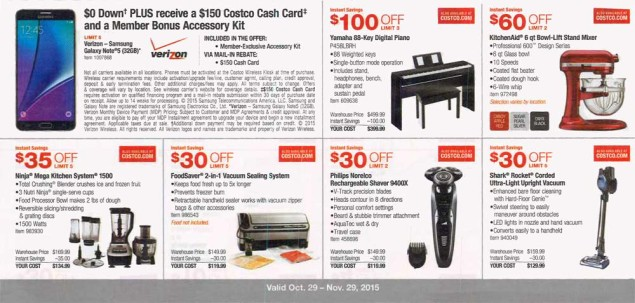 November 2015 Costco Coupon Book Page 3