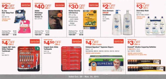 November 2015 Costco Coupon Book Page 5