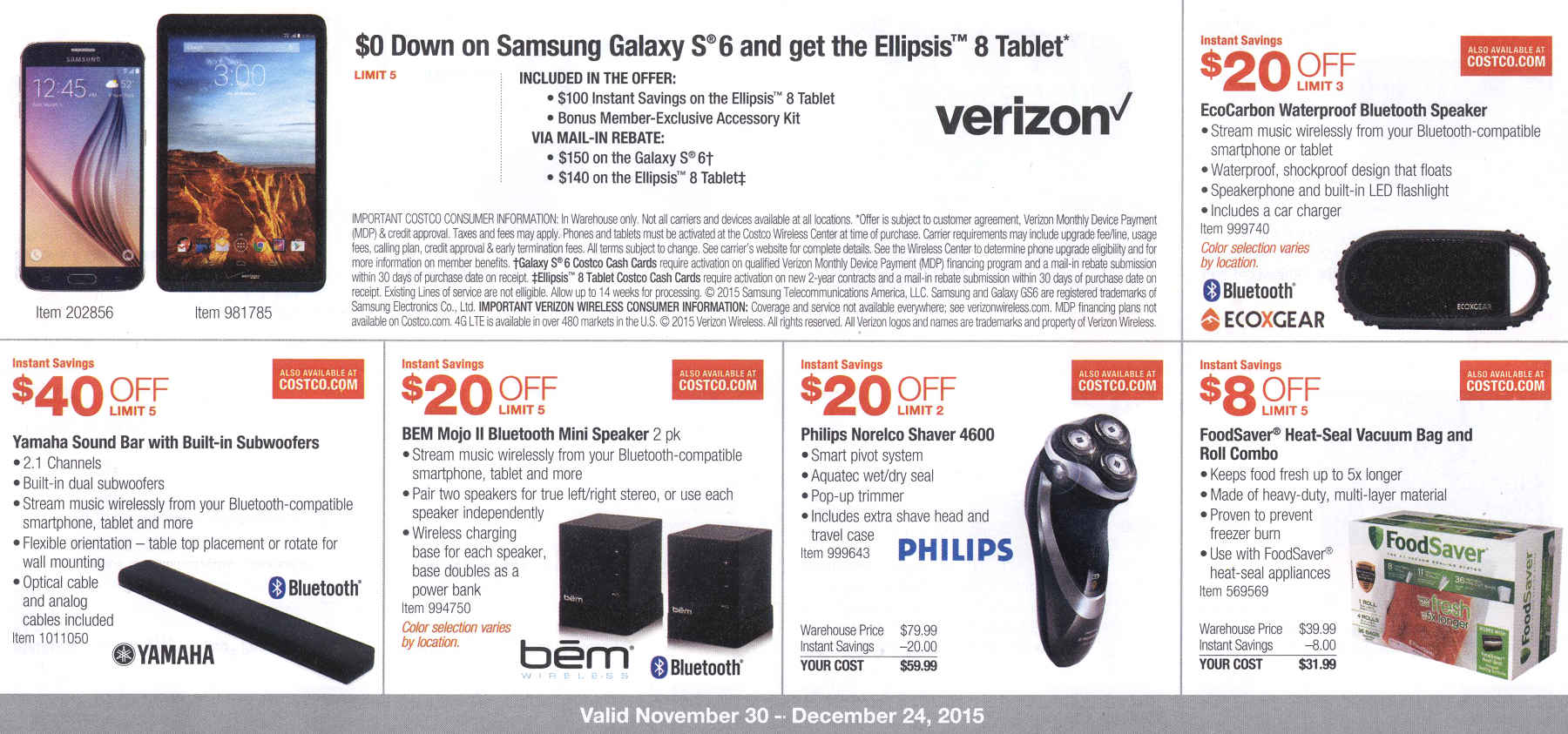 December 2015 Costco Coupon Book Page 3