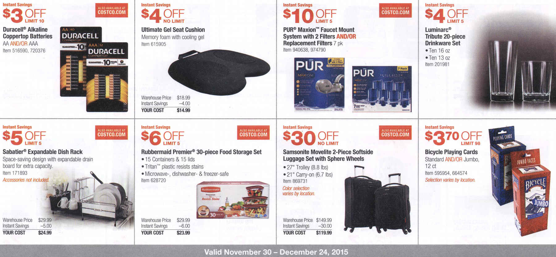 December 2015 Costco Coupon Book Page 5