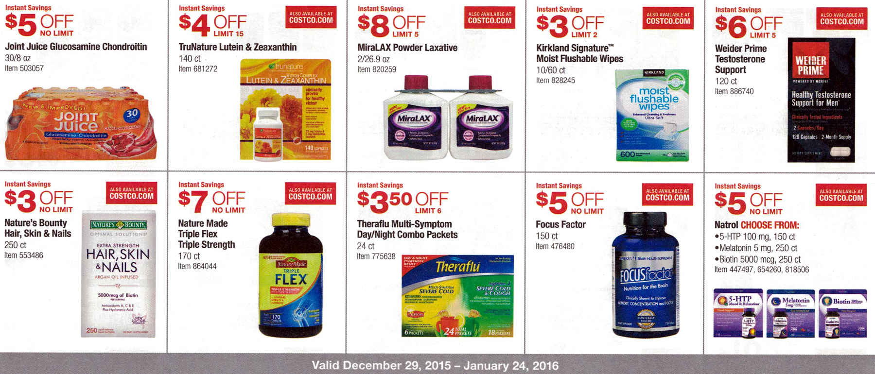 January 2016 Costco Coupon Book Page 7