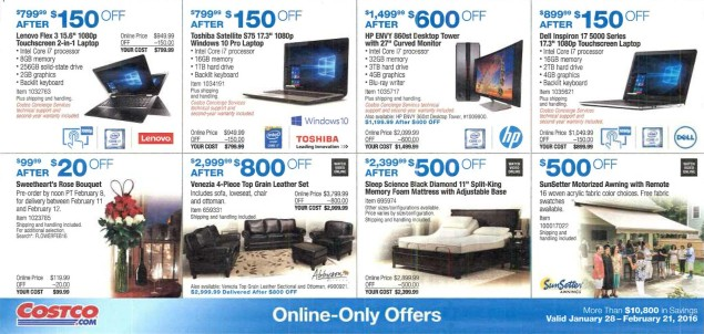 February 2016 Costco Coupon Book Page 13