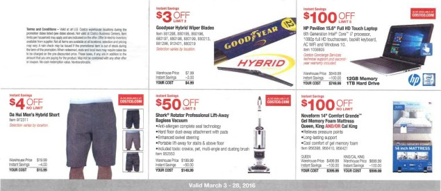 March 2016 Costco Coupon Book Page 1