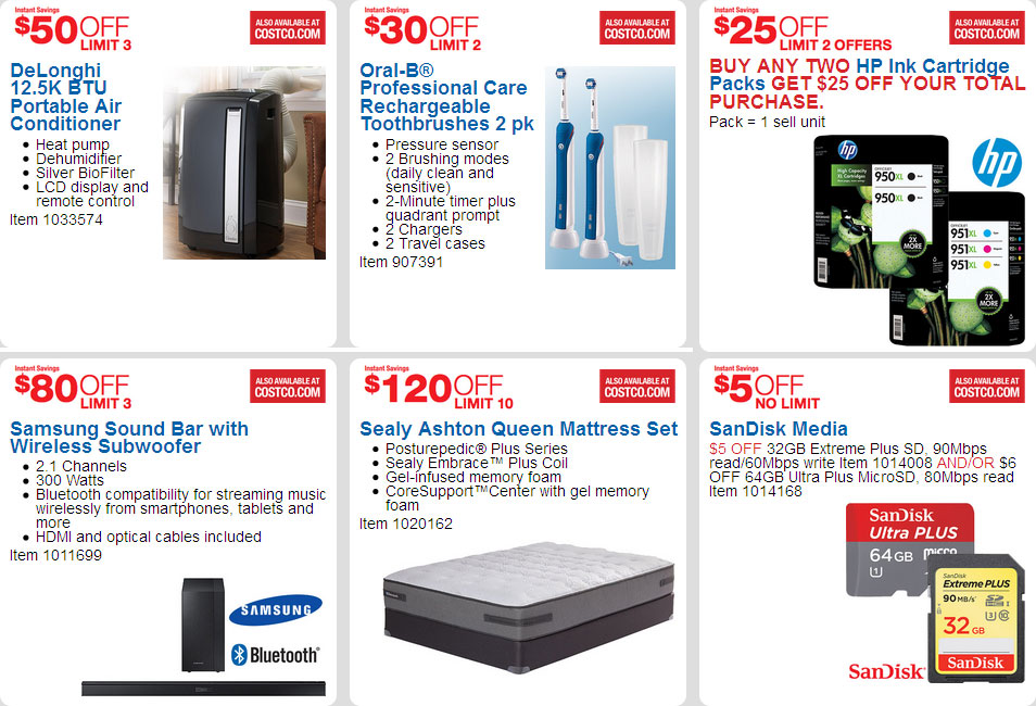 April 2016 Costco Coupon Book Page 1