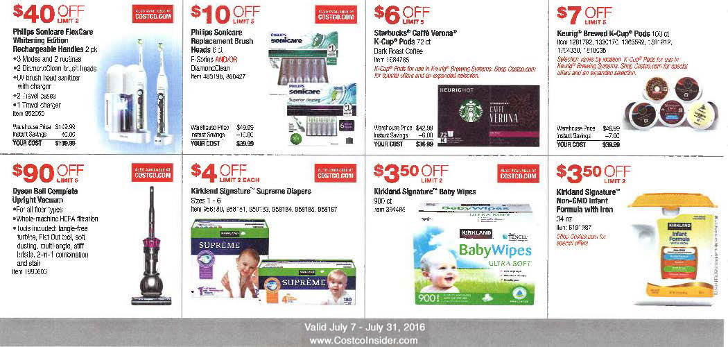 July 2016 Costco Coupon Book Page 3