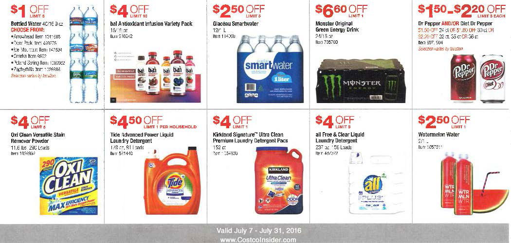 July 2016 Costco Coupon Book Page 9