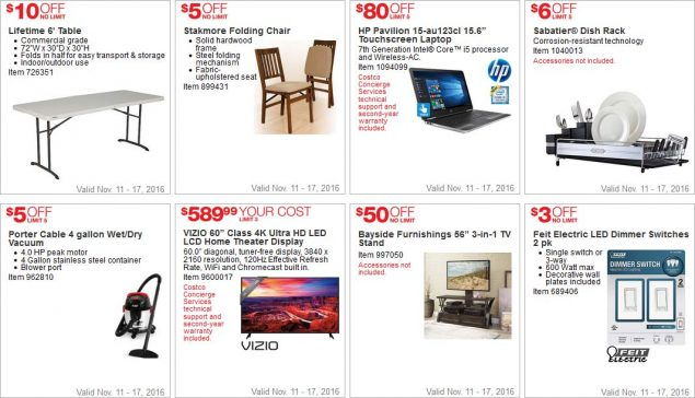 Costco Black Friday 2016 Week 1 Coupons Page 4