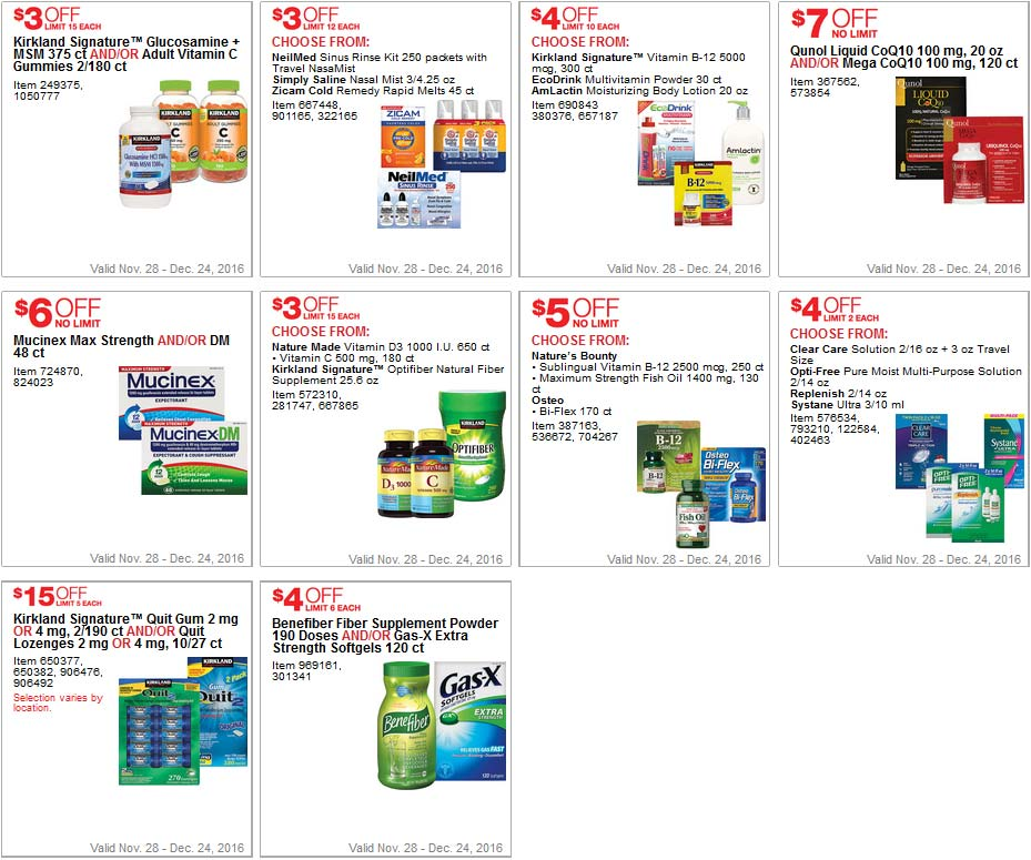 Simple Costco Coupons December Page