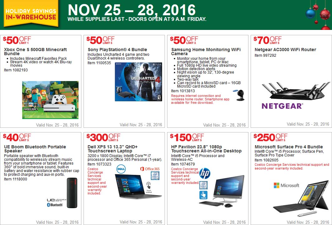 Costco Black Friday 2016 Weekend Coupons Page 1