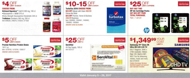 January 2017 Costco Coupon Book Page 1