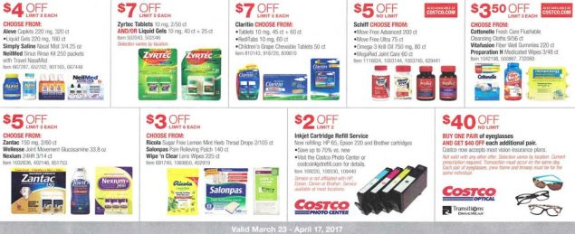 Costco March and April 2017 Coupon Book Page 16