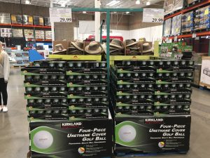 Costco Golf Balls on pallet