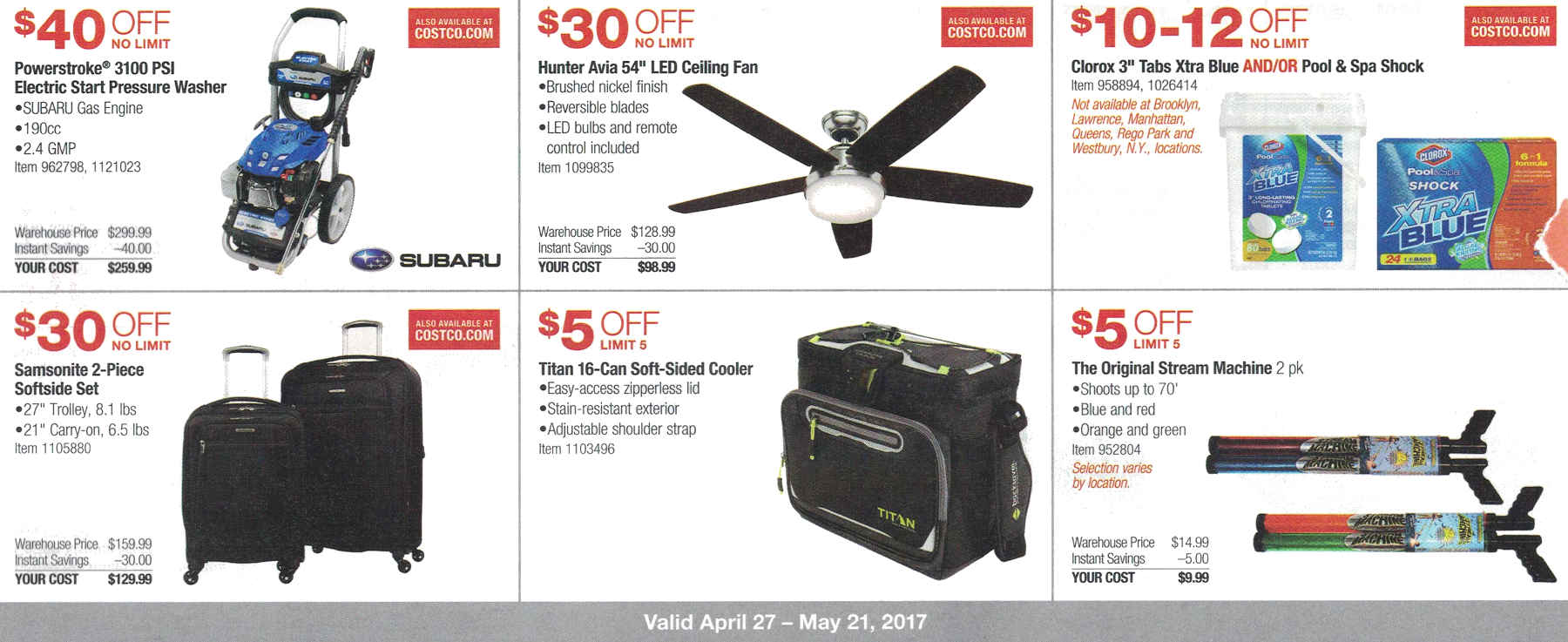 Costco May 2017 Coupon Book Page 3