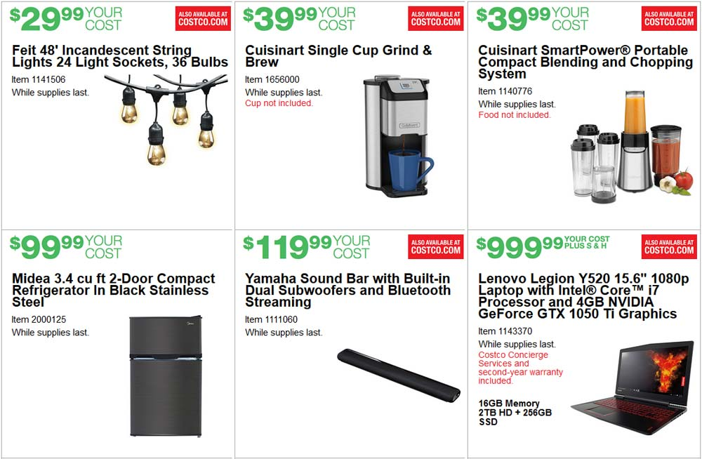 Perfect June Costco Coupon Book Page