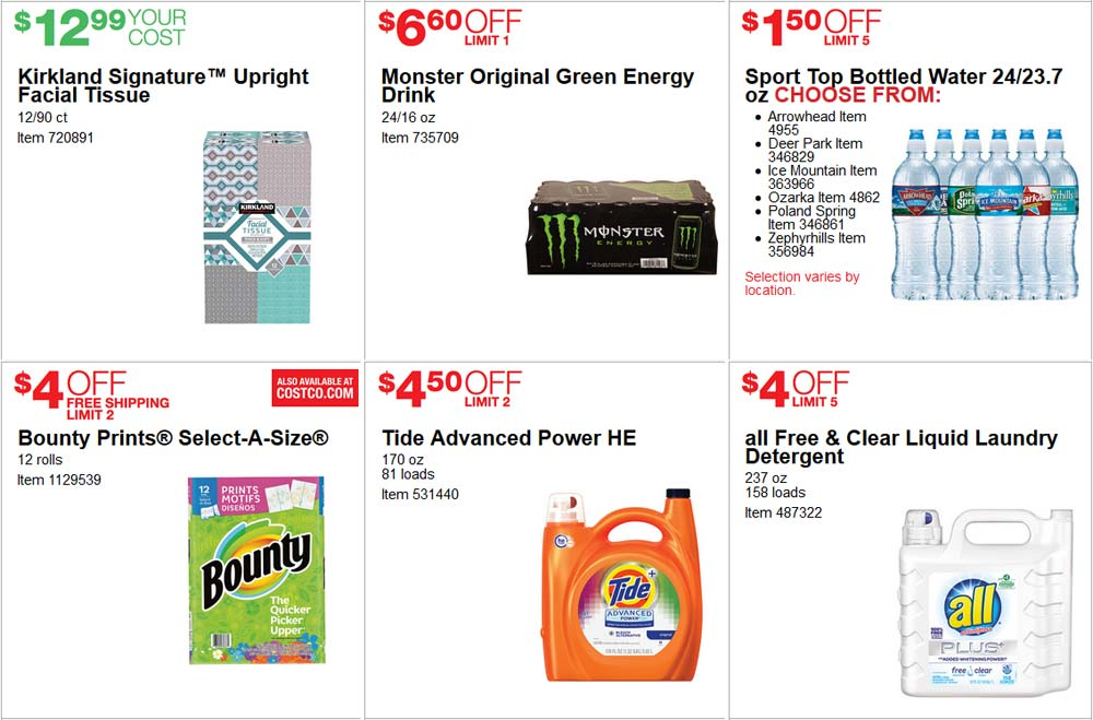 Lovely June Costco Coupon Book Page