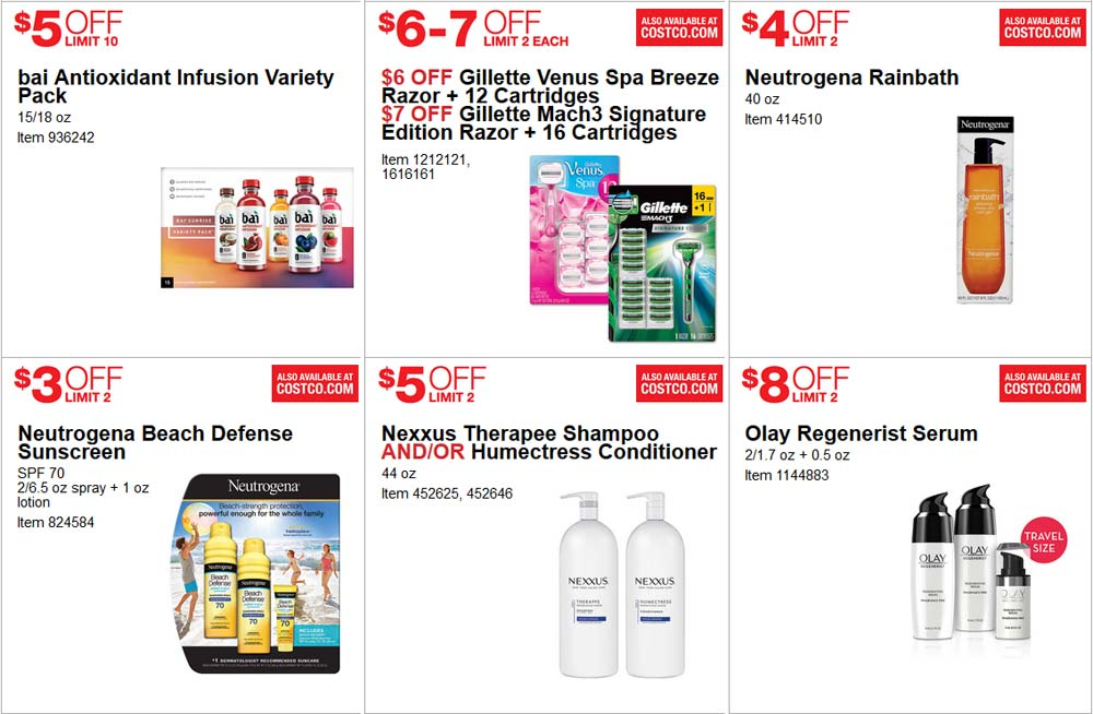Great June Costco Coupon Book Page