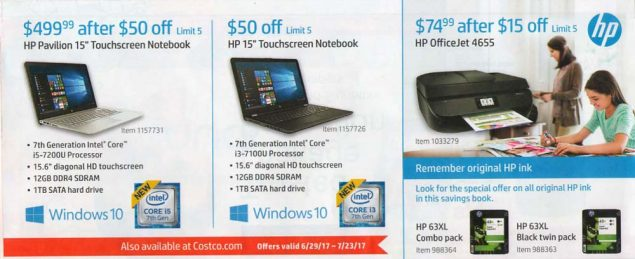 Costco July 2017 Coupon Book Page 3