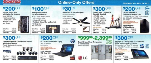 Costco September 2017 Coupon Book Page 19