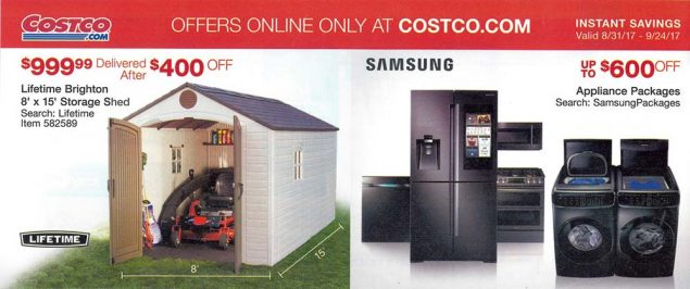Costco September 2017 Coupon Book Page 3
