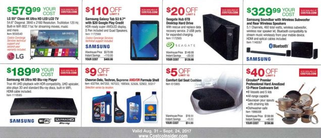 Costco September 2017 Coupon Book Page 9