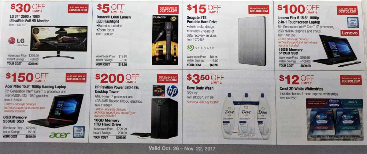 Costco November 2017 Coupon Book Page 8