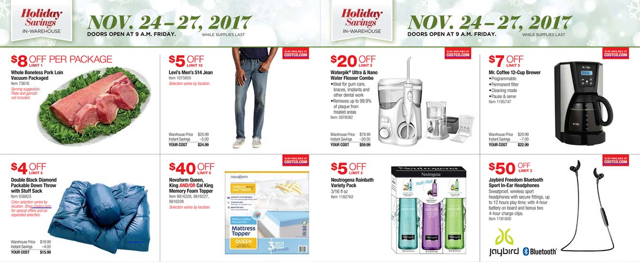 Costco Black Friday 2017 Ad Scan Page 4
