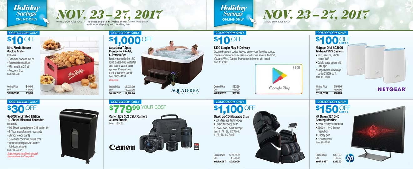 Costco Black Friday 2017 Ad Scan Page 6